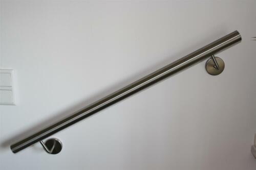Edelstahl Handlauf V2A Treppenhandlauf Ø42,4mm 800 mm 2 Halter Bogen