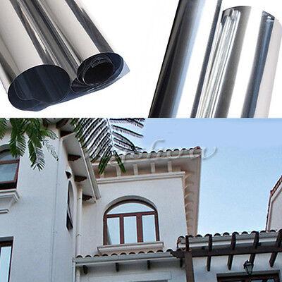 Silver Solar Reflective One Way Mirror Privacy Window Film Insulation Stickers