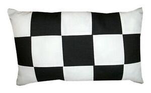 coussin damier noir et blanc COUSSIN RECTANGULAIRE DAMIER NOIR ET BLANC 30x50cm, 30x60cm ou  coussin damier noir et blanc