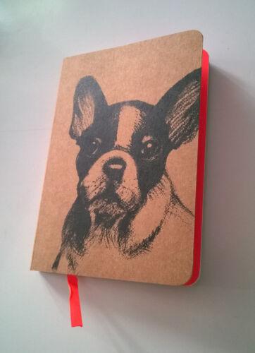 Bully Notizbuch A6 Hunde Französische Bulldogge Geschenke für Hundeliebhaber NEU