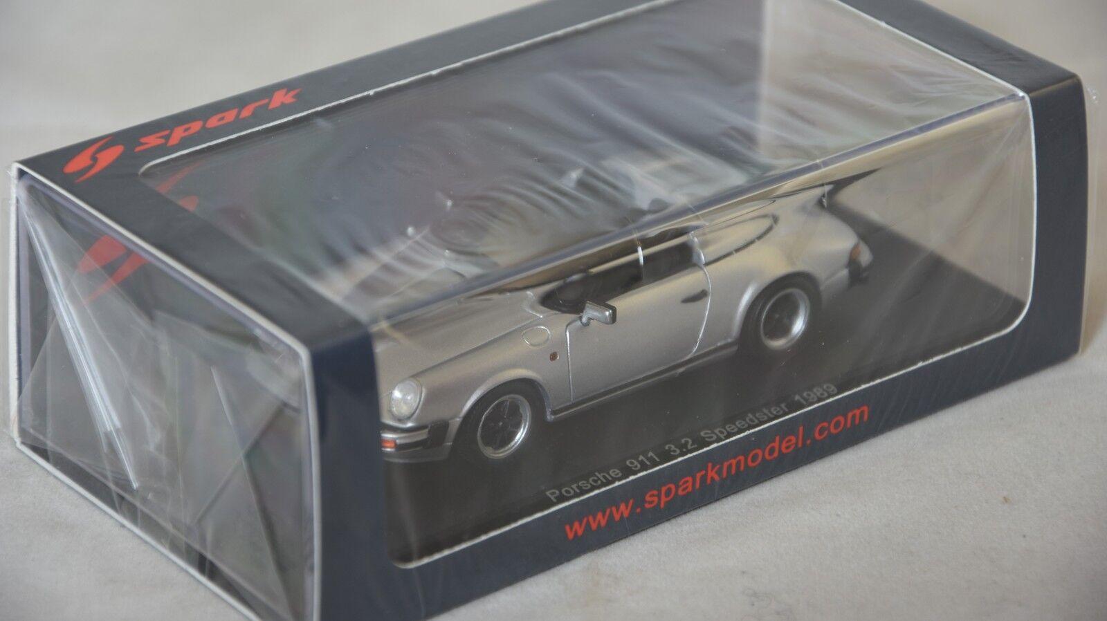 comprar mejor Spark S4470 - - -  PORSCHE 911 3.2 Speedster 1989 plata 1 43  todos los bienes son especiales