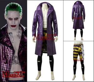 Details About Suicide Squad Jared Leto Joker Costume Halloween Cosplay Costume Cloth Full Set