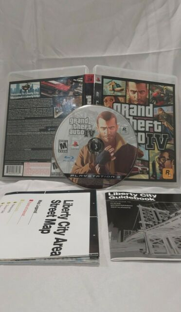 Grand Theft Auto IV GTA 4 PS3 - Very Clean - Tested, includes MAP