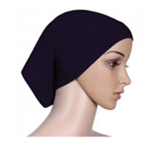 Colors Muslim Lady Head Scarf Cotton Underscarf Hijab Cover Headwrap Bonnet