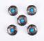10PC-30MM-FLORAL-TURQUOISE-ANTIQUE-SLIVER-SCREW-BACK-CONCHOS-FOR-BELT-WALLET miniature 4