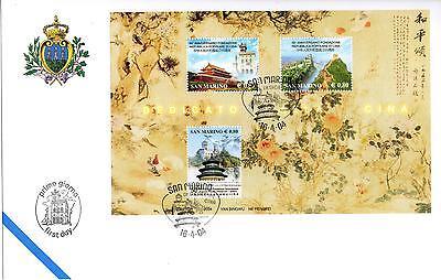 Briefmarken Angemessen San Marine 2004 Fdc Aasfn Geschenk Nach China Waren Des TäGlichen Bedarfs