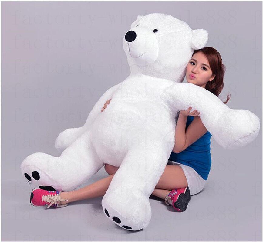 49'' Hung Giant Stuffed Plush Polar Bear Animal Plush Bears toys doll gift 125cm