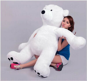 49 125cm Hung Giant Stuffed Plush Polar Bear Animal Plush Bears