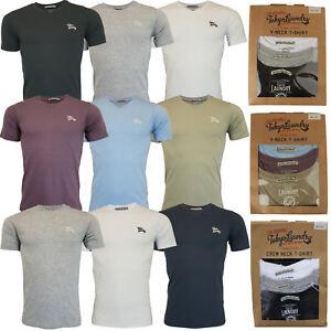 New-Mens-Tokyo-Laundry-3-Pack-Plain-Combed-Cotton-T-shirt-Top-Plain-Mix-Colours
