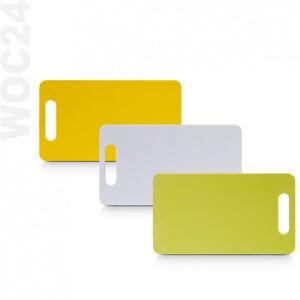 24-x-14-cm-Schneidebrett-Schneidbrett-Tranchierbrett-Kunststoff-Gelb-Gruen-Weiss