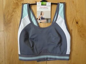 M/&S UNDERWIRED EXTRA HIGH IMPACT  SPORTS BRA WHITE Size 32F