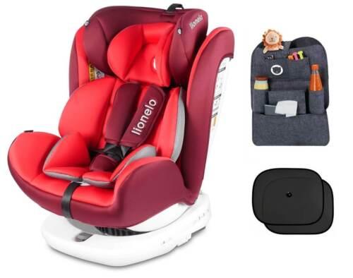 Kindersitz Lionelo Bastiaan Isofix rot Baby Autositz Gruppe 0+//lII bis 36kg