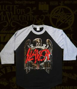 New SLAYER Eagle Logo Metal Rock Band Men/'s Grey T-Shirt Size S-3XL
