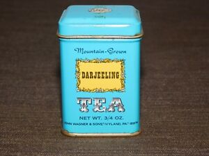 VINTAGE-2-1-2-034-HIGH-JOHN-WAGNER-amp-SONS-IVYLAND-PA-DARJEELING-TEA-TIN-CAN-EMPTY