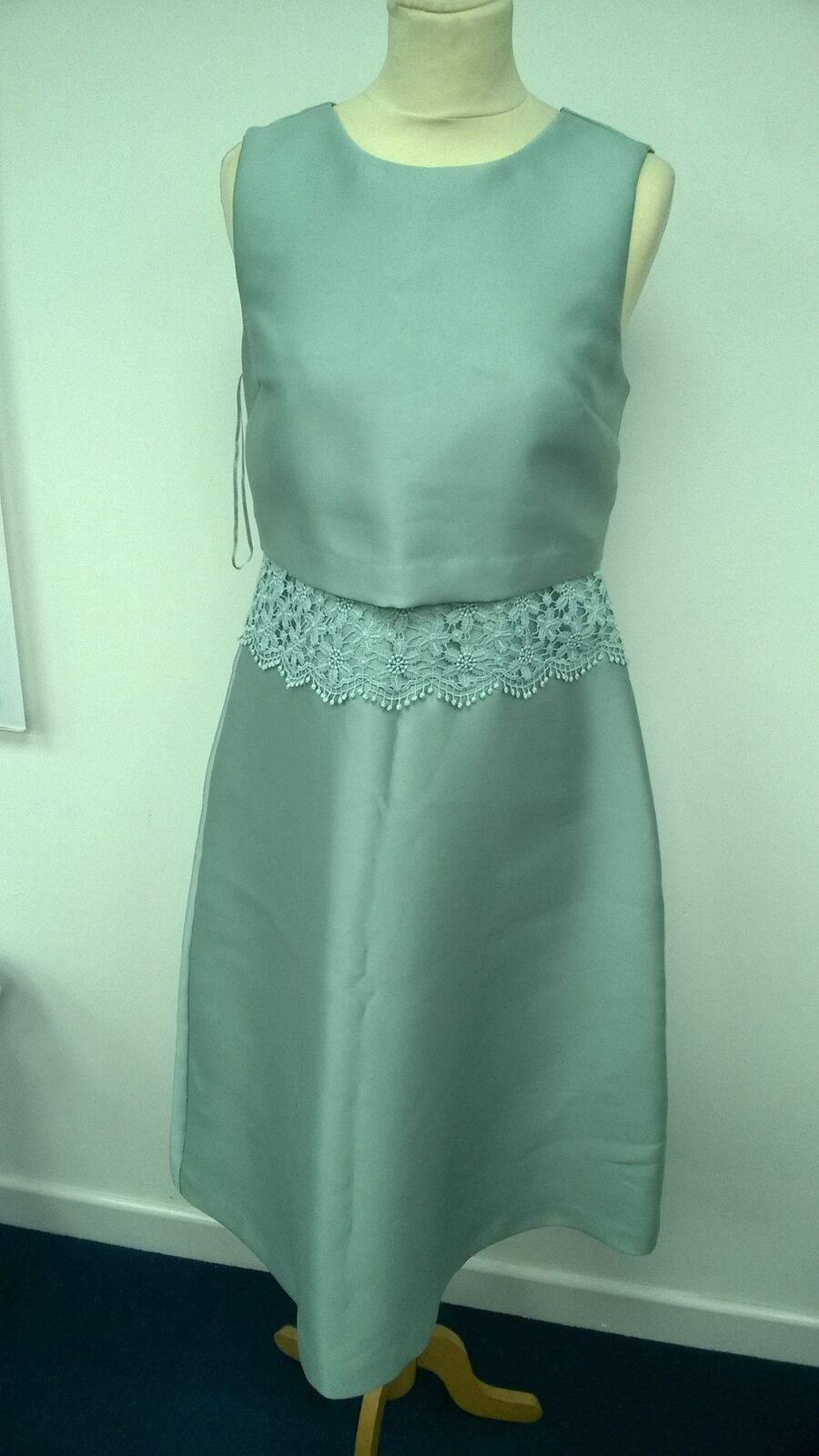 Ladies Oasis Size 10 Bridesmaids Prom Evening Dress bluee Green
