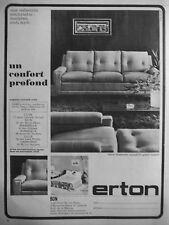 PUBLICITÉ 1964 SALON SAVANNAH CANAPÉ-LIT ERTON UN CONFORT PROFOND - ADVERTISING