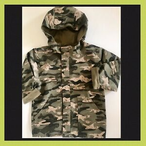 f5f3e57224770 NWOT XS 3 3T 4 4T Gymboree Green Camo Camouflage Raincoat Rain ...