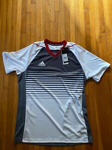 Mens-Mi-Adidas-Tiro-Team-Custom-Jersey-Grey-Red-White-Estudiantes-M