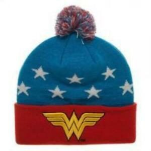 c78dafc41 Wonder Woman Hat 3d Embroidery Official Beanie
