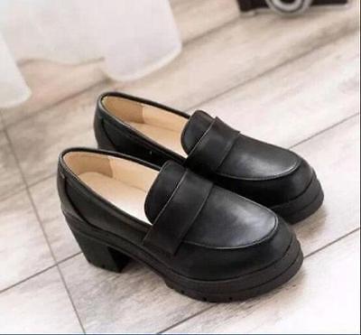 Japanese Womens Girl School Lolita Maid JK Uniform Shoes Cosplay Casual Shoes
