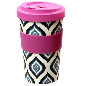 600ml-Reusable-Bamboo-Fibre-Ecoffee-Cups-Tea-Coffee-Mugs-Purple-Eco-Travel-Mug