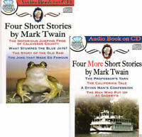 8 Mark Twain Short Stories Audio Books On 2x Cds Classic American Comedy -