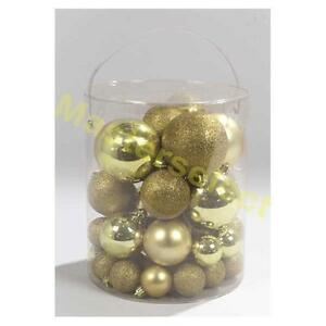 50 x boules de noel dore a suspendre pour decoration du. Black Bedroom Furniture Sets. Home Design Ideas