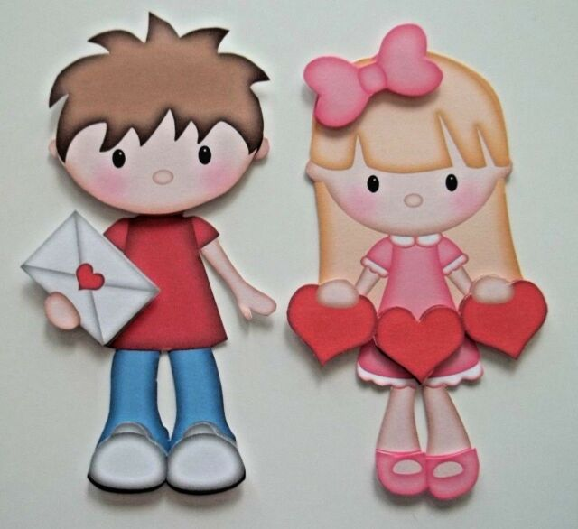 3d U Pick Love Boy Girl Raggedy Anne Andy Paper Embellishment Ebay
