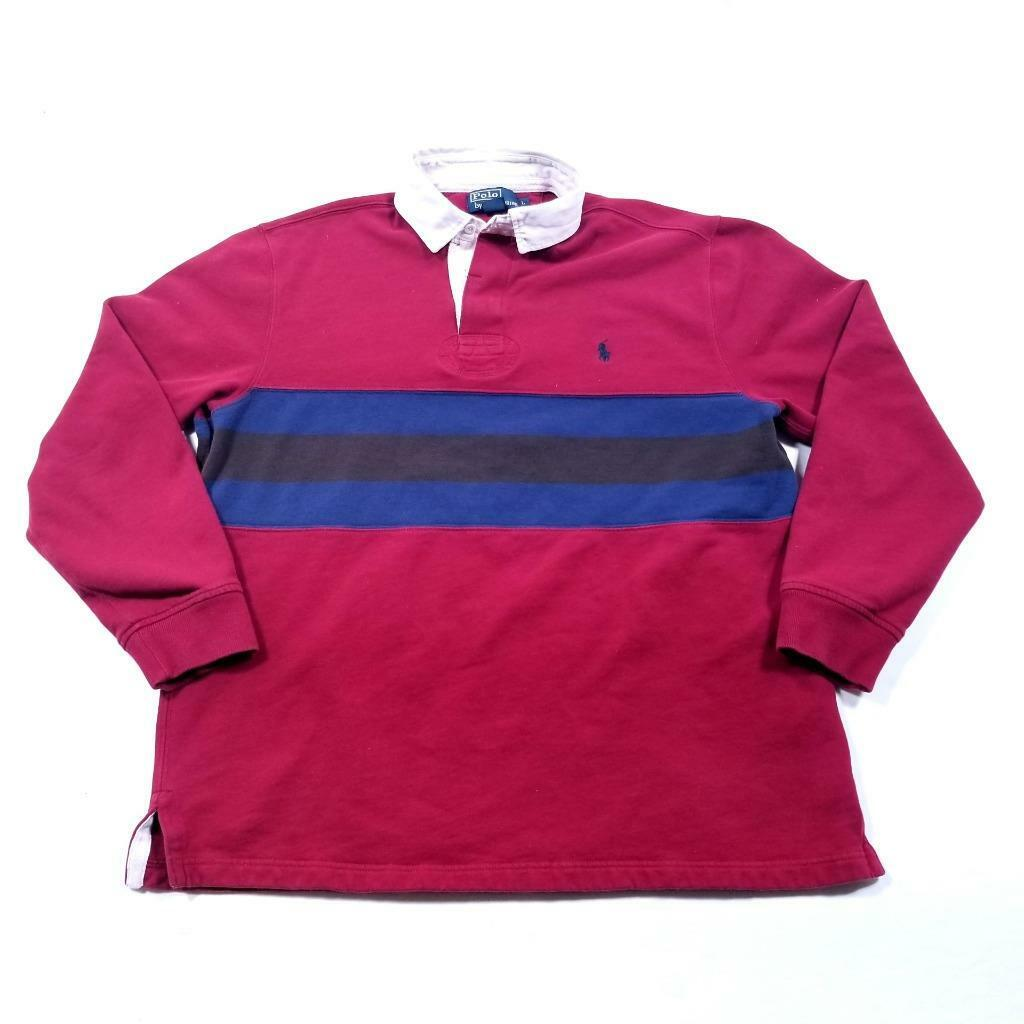 Mens POLO by RALPH LAUREN 80's Rugby Shirt - L - … - image 2