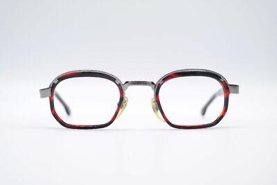 Fedele Vintage Robert La Roche 98 49 [] 17 140 Rosso Nero Ovale Occhiali Eyeglasses Nos-