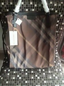Image is loading NWT-BURBERRY-PACKABLE-NYLON-BIRCH-GRAY-CHECK-BUCKLEIGH- 07f3bc2613b4c