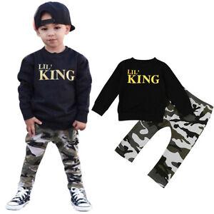 2PCS-Set-Kids-Infant-Baby-Boy-T-shirt-Tops-Long-Camouflage-Pants-Trousers-Outfit