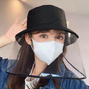 Unisex-Anti-droplet-Bucket-Hat-With-Face-Shield-Anti-Virus-Sunhat