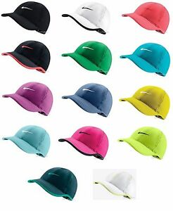 New Nike Womens Feather Light Swoosh Hat Dri Fit Tennis Cap 679424 ... 68b88b19de00