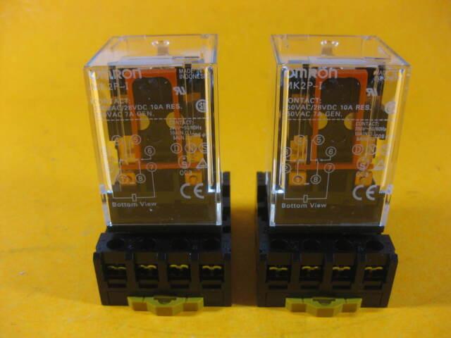 Relay OMRON MK2P-I MK2P AC 24V  24VAC  8 Pin 10A 250VAC with PF08A SOCKET 2 pcs