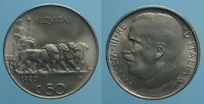 REGNO D'ITALIA VITT.EMAN. III RARO 50 CENTESIMI 1920 LEONI BORDO LISCIO FDC