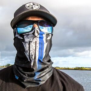 Salt armour sa police appreciation face shield mask blue for Sa fishing face shield review