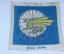 vietnam american war vintage  woven  blue  7th batl  ARVN parachute forces patch
