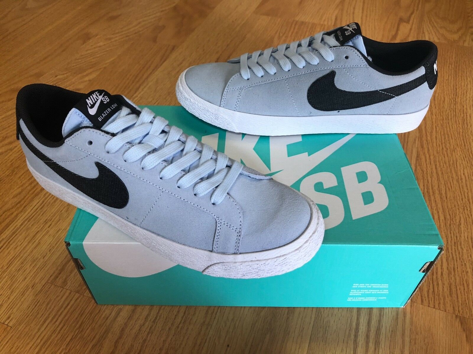 Nike SB Blazer Zoom Low Hydrogen Blue Blue Blue 9.5 TZ,NRG,6.0,jordan,rare,Skate,sample 40f6a4
