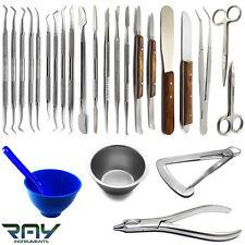 Basic Dental Laboratory Waxing Instruments Carver Spatula Mixing Bowl Knife
