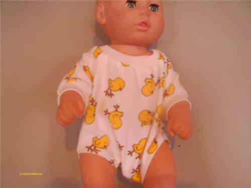 """16/"""" ONE PIECE OUTFIT YELLOW CHICK PRINT DOLL CLOTHES BABY 14/"""""""