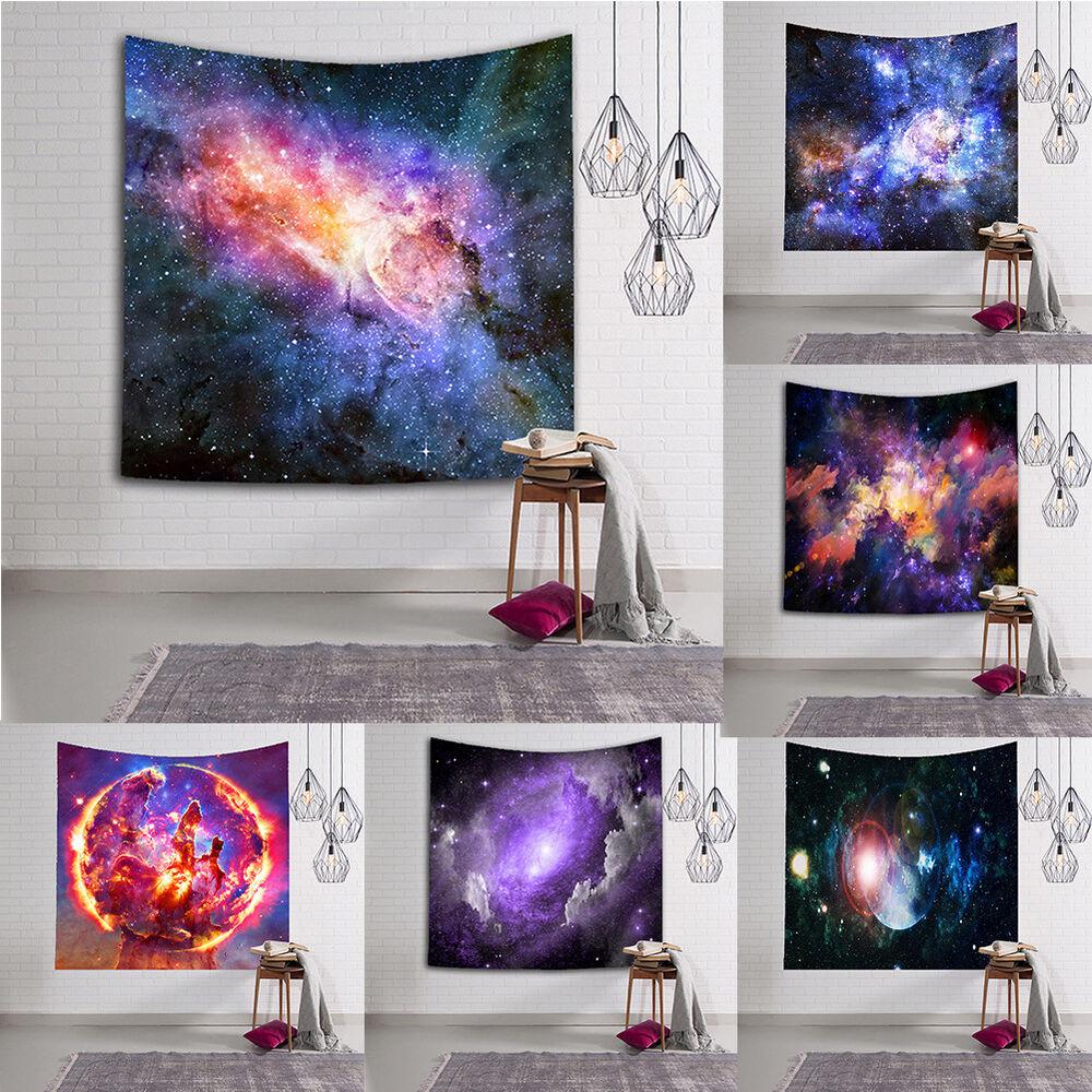 EG_Galaxy sternklar Himmel Wandteppich Zimmer Wandbehang Strandtuch Decke