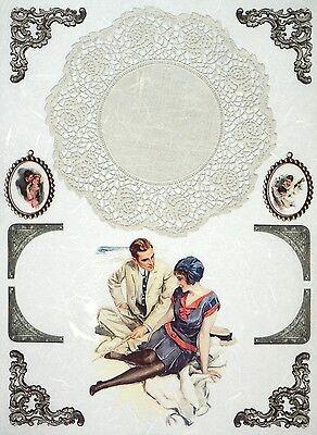 Rice Paper for Decoupage Decopatch Scrapbook Craft Sheet Vintage Love Photos