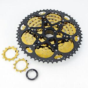 VG-sports-11-speed-11-52T-MTB-gold-amp-black-bicycle-cassette-freewheel-sprockets