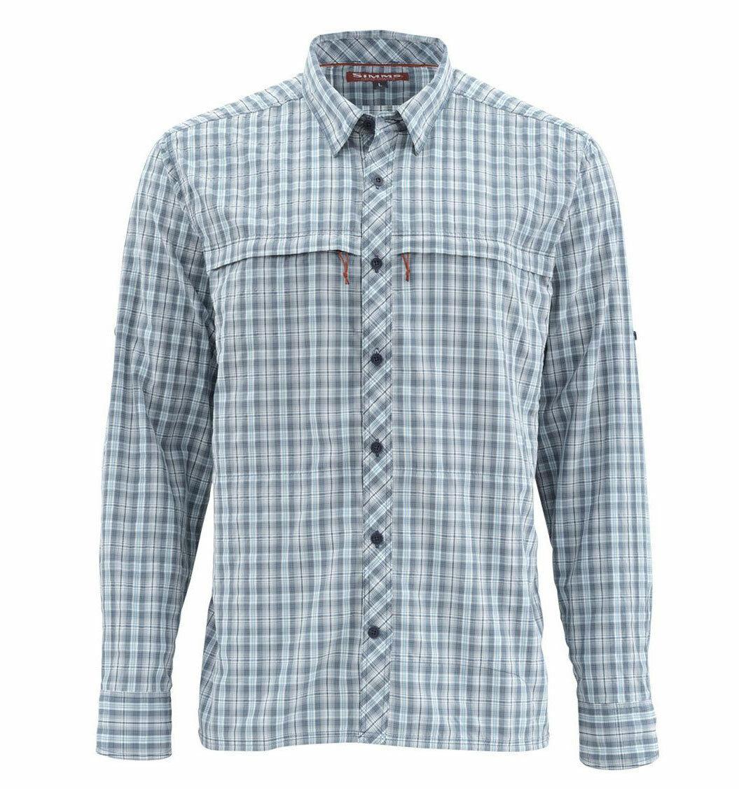 Simms Stone Cold LS Shirt  Dark Moon Plaid  2XL  gratuito US Shipping