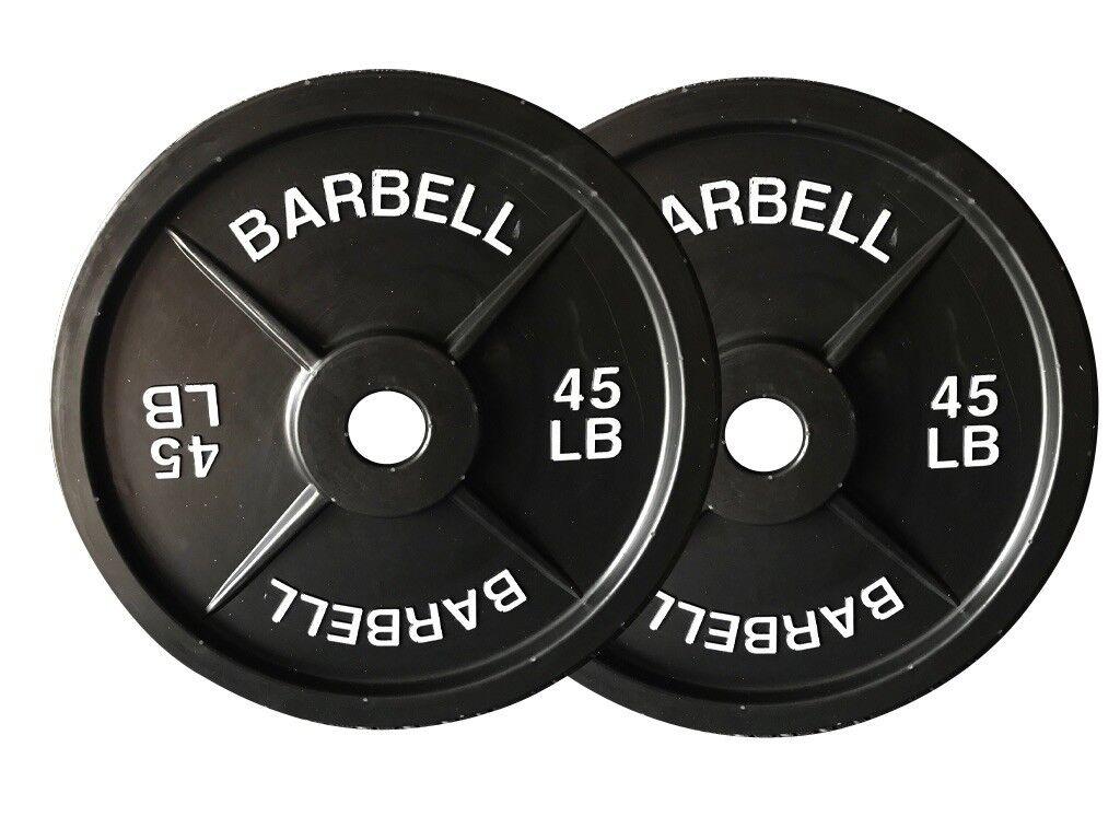 Placas de Barbell 45lb falsos pesos