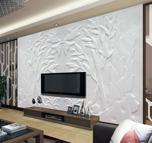 3D Bamboo Leaf Relief 37 Paper Wall Print Wall Decal Wall Deco Indoor Murals