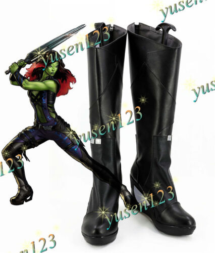 Guardians of the Galaxy 2 Gamora Shoes Boots Halloween Cosplay Boots Custom Made