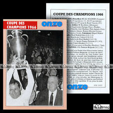 REAL MADRID COUPE DES CHAMPIONS 1966 (ex-Ligue League) - Fiche Football 2000