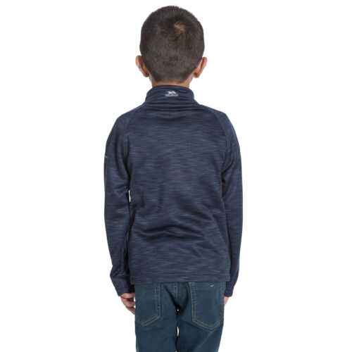 Trespass Edvin Boys Fleece For Camping /& Hiking School Jumper in Black /& Navy
